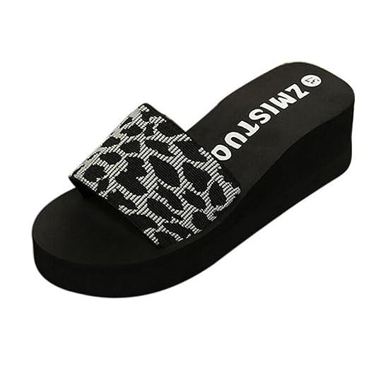 1e71d7fabc1a62 Creazrise Womens Wedge Wedge Beach Slippers Elastic Platform Flip Flop Gray  (Gray