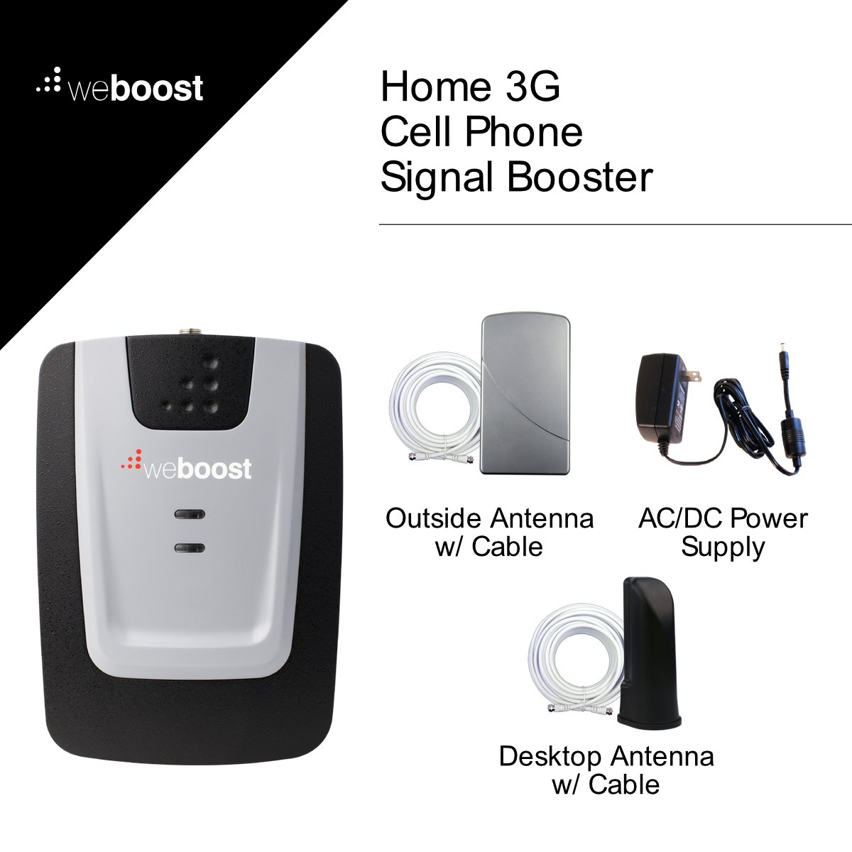 weBoost Home 3G Cell Phone Signal Booster Kit for Home and Office – Enhance Your Signal up to 32x. Can Cover up to 1500 sq ft or Small Home. For Multiple Devices and Users. by weBoost (Image #2)