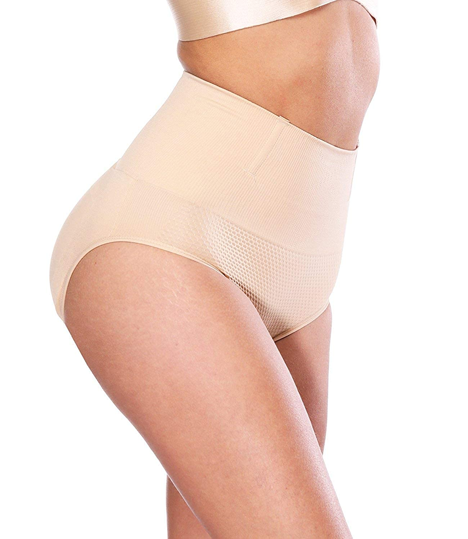 LAZAWG Women Mid Rise Butt Lifter Tummy Control Body Shaper Pads Panty Shapewear CA5618LAZAWG