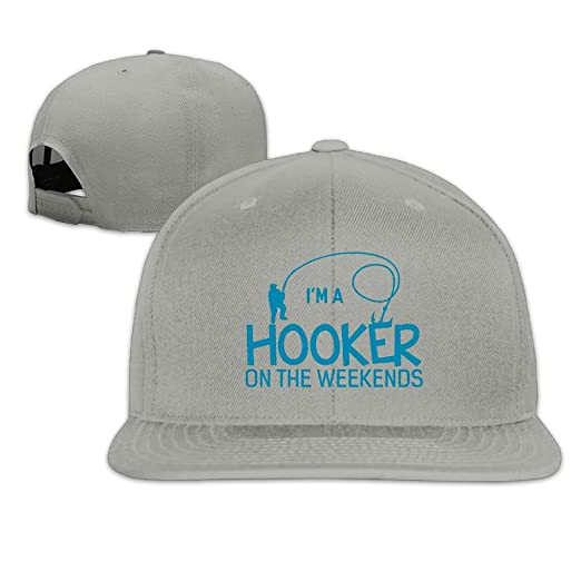 9925137671553 Fashion Hooker On The Weekend Funny Fishing Adjustable Baseball Cap  Snapback Hat for Men Women