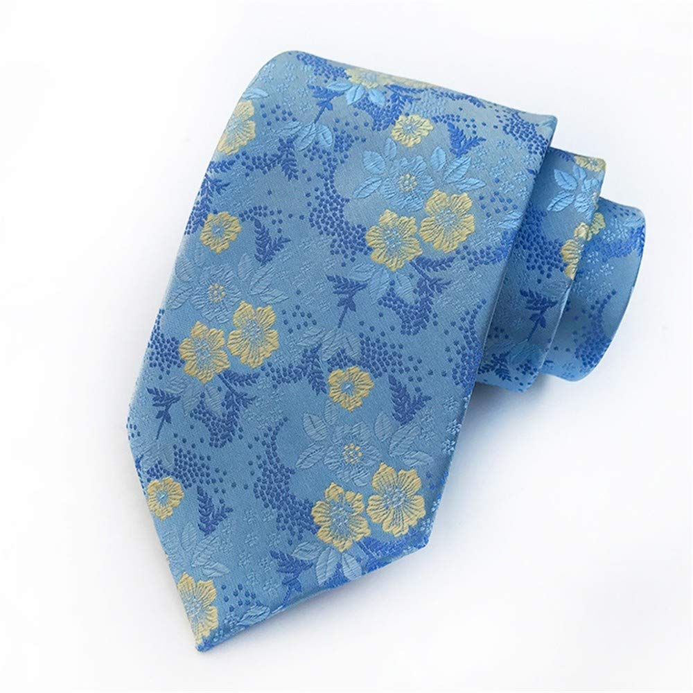 Zjuki corbata Las Flores Azules de los Hombres Corbata Cravat ...