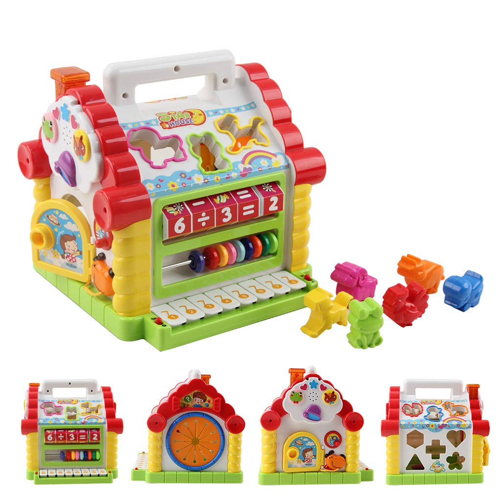Rigel7 Multi-Function House Shape Cognitive Matching Toy Learning Education with Music Children's Toy Set Gift for Kids Boys Girls by Rigel7