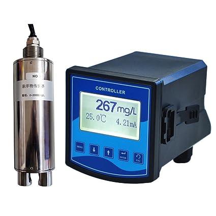 Medidor de concentración, sólido, suspendido, con detector de masa suspendido, industrial,