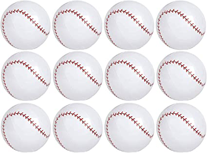 12 Piece Beachball Fun Red White 16 Birthday Favors Decor Spors Themed Pool Party Toy Rhode Island Novelty Inflatable Baseballs