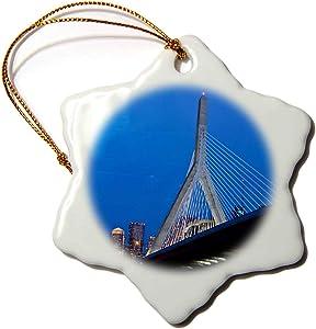 3dRose USA, Massachusetts, Boston. The Zakim Bridge - US22 WBI0625 -. - Ornaments (ORN_91023_1)