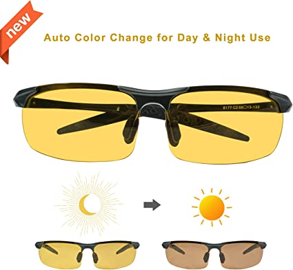 Day Night Vision Driving Glasses HD Sunglasses UV400 Outdoor Eyewear Anti-Glare