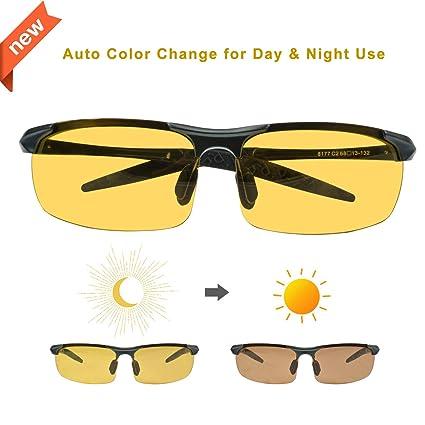 91980284beebc Vinkki Driving Polarized Sunglasses Anti-Glare HD Night Vision Glasses  UV400 Protection True Color Photochromism
