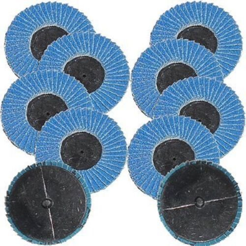 SKEMiDEX---10pk 2'' Flap Sanding Discs Wheels 40 Grit Roll Lock Roloc Grinding Zirconia NEW. Threaded backs screw securely to the mandrel for quick pad changes For use with die grinders and drills by SKEMiDEX (Image #1)