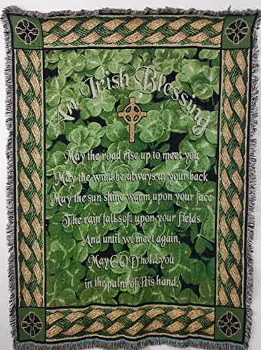 Pure Country Inc. Irish Blessing Blanket Tapestry (Irish Woven Tapestry Throw)