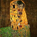The Kiss By Gustav Klimt. 100% Hand Painted. Oil On Canvas. Reproduction. (Unframed and Unstretched).