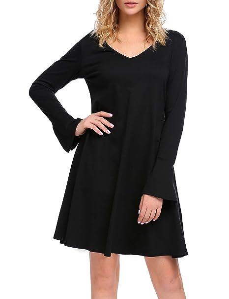 04574d63bca3 UNibelle Women Casual V Neck Long Sleeve Loose Fit T-Shirt Tunic ...