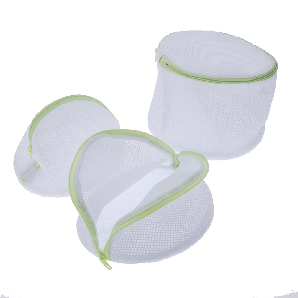 Andux Land Home Essential Laundry Mesh Wash Bag Set with Zipper (6 Pieces)- Multipurpose Travel Set - 1 Large ,1 Medium, 1 Small, 3 Bra Bags XYD-01 by Andux Land (Image #4)