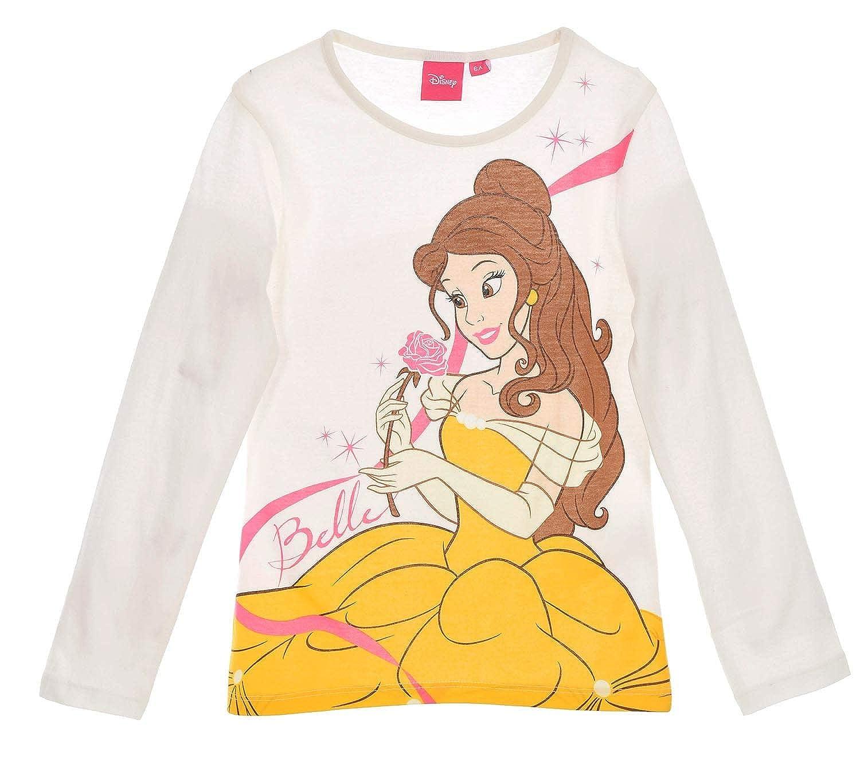 Disney Principesse RH1282 Maglia a Manica Lunga, Cotone, Bambina