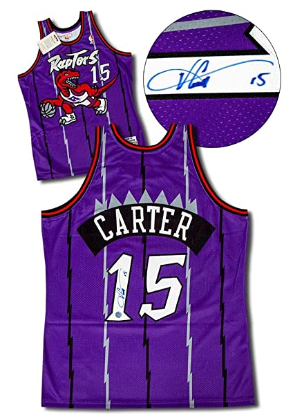 5b25030885a Image Unavailable. Image not available for. Color  Vince Carter Signed  Basketball - Vintage Mitchell   Ness Authentic Jersey ...