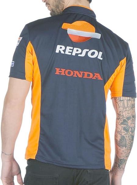 Polo azul de hombre - Team Repsol Small: Amazon.es: Coche y moto