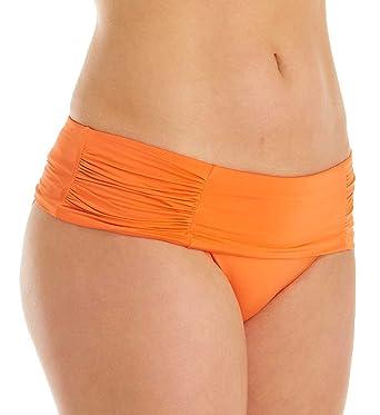 ae2556e69f716 Panache Marina Folded Swim Bottom (SW0837) XS Tangerine