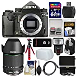 Cheap Pentax KP Wi-Fi Digital SLR Camera Body (Black) with 18-135mm Lens + 64GB Card + Backpack + Flash + Battery + Tripod + Filters + Kit