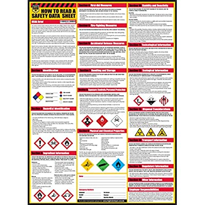 How To Read A Safety Data Sheet (SDS/MSDS) Poster, 24 x 33 Inch, UV Coated Paper (Poster) - 4003203 , B071L9CZR9 , 454_B071L9CZR9 , 15.49 , How-To-Read-A-Safety-Data-Sheet-SDS-MSDS-Poster-24-x-33-Inch-UV-Coated-Paper-Poster-454_B071L9CZR9 , usexpress.vn , How To Read A Safety Data Sheet (SDS/MSDS) Poster, 24 x 33 Inch, UV Coated Paper (Post