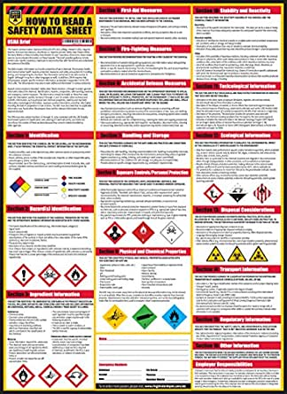 How To Read A Safety Data Sheet Sds Msds Poster 24 X 33