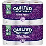 Quilted-Northern Ultra Plush Bath Tissue, 12 Mega Rolls Toilet Paper, Pack of 2