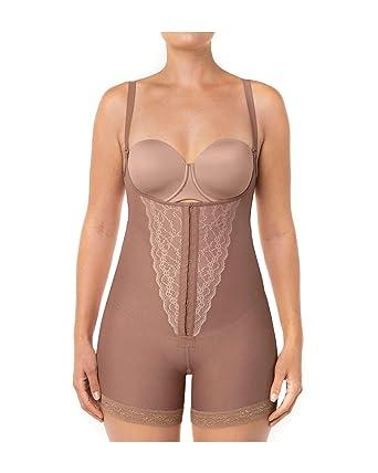 6ad060de36d2d Lace Bodysuit Shaper Short with Booty Lifter at Amazon Women's ...