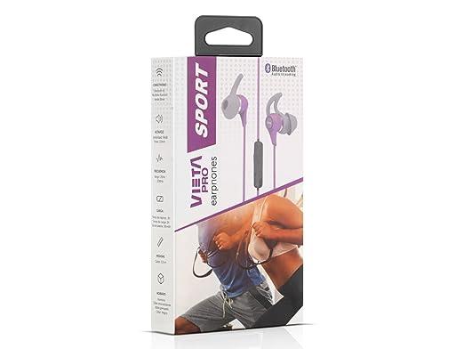 Vieta VHP-SB330PL - Auricular Sport con Bluetooth, Color Lila: Amazon.es: Electrónica