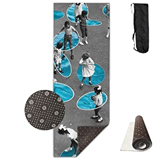 Yoga Mat Eco Thick Premium PVC Kid Play Hola Hoop Pilates Stretching Fitness Workout