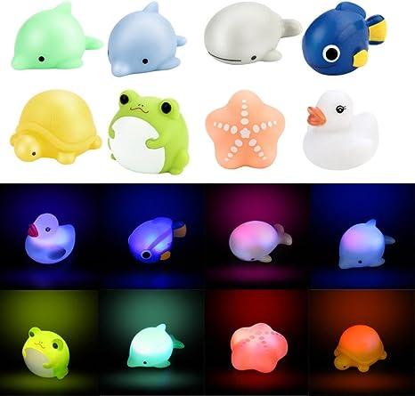 Ducha juguete beb/é ba/ño cambio de color LED Bombilla Luz vinilo juguete Mordedor
