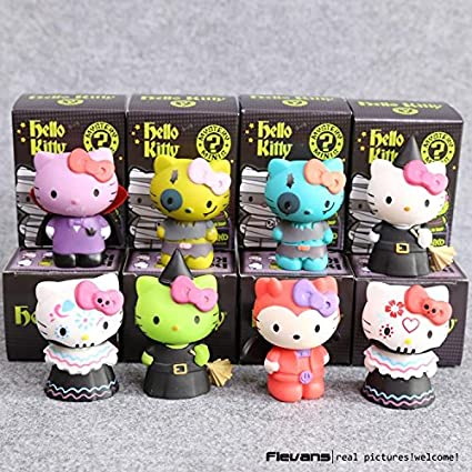 Hello Kitty Mystery Minis Limited Edition PVC Figures Toys Dolls 7cm 8pcs/set