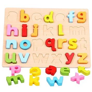 LIMISKY 3D Puzzles Rompecabezas de madera Números y letras ...