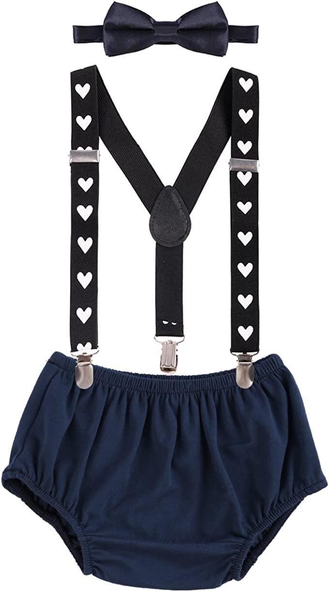 NewsBoy sitter sits smash the cake suspenders baby All photo shoot bow tie birthday bloomer panties beret