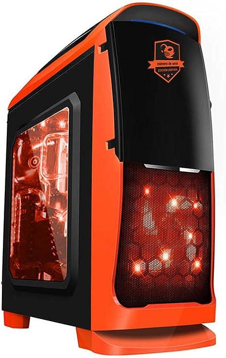 CoolBox Deep Sting II Torre Negro, Rojo - Caja de Ordenador (Torre, PC, SPCC, Acero, Negro, Rojo, ATX,Micro ATX, Juego): Amazon.es: Informática