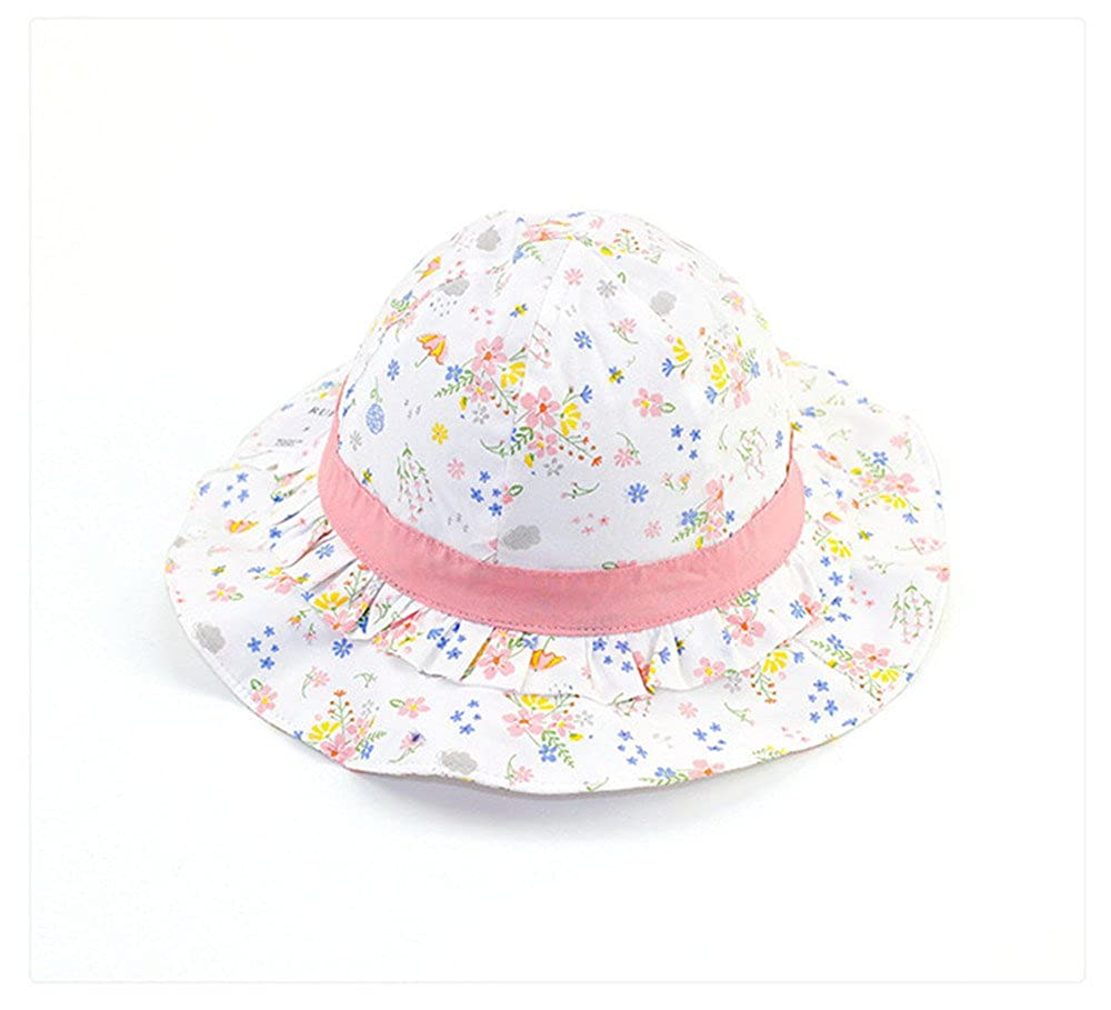 Adanina Small Floral Printed Cute Infant Fisherman Hat Sun Protection Hat Baby Caps Hats