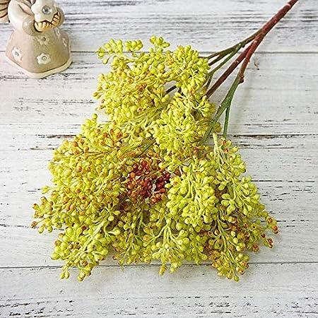 MEITAO Flor Artificial Rama De Sorgo Bayas Artificiales para Huertos Familiares En Plantas De Flores Falsas De Plástico
