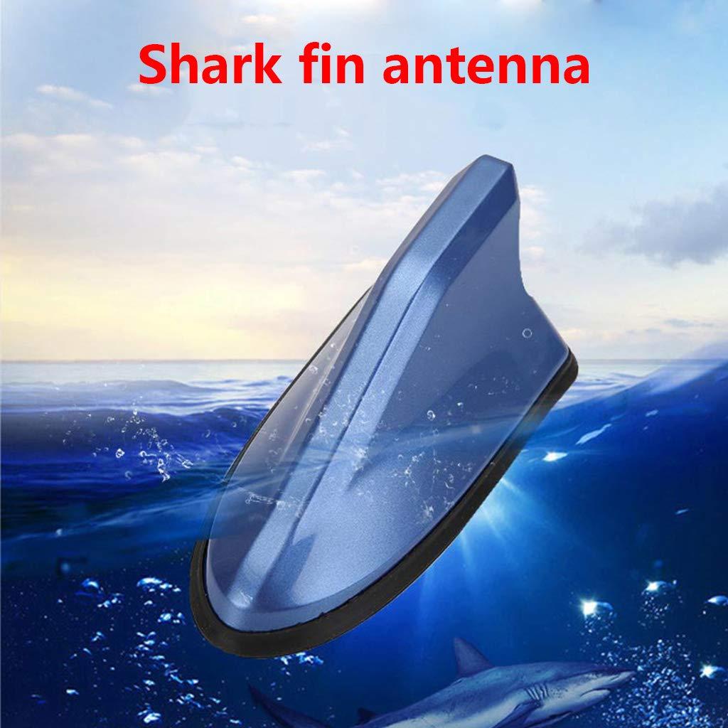 Gwxevce Universale FM Amplificatore di Segnale Autoradio Antenne Antenna di Pinna di squalo Auto Decorazione del Tetto Auto Sostituzione Laterale Antenna di Pinna di squalo Argento