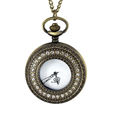 Oro antiguo Zirconia cúbico llavero Reloj de Bolsillo de ...