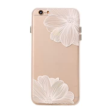 Amazon.com: ucll iPhone 6s Caso, imitación White Lace ...