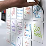 mcSquares Stickies Dry-Erase Sticky Notes. Reusable Whiteboard Stickers 4 inch Square 6 Pack - Great for Reminders…