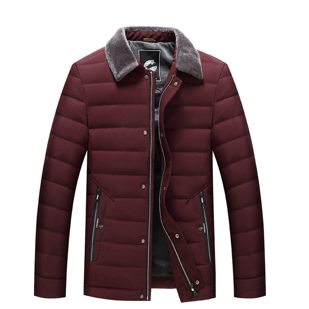 Mode Hommes Augmentation Doudoune Hiver Auto-Culture Chaud Plus La Taille épaississement Veste rouge L