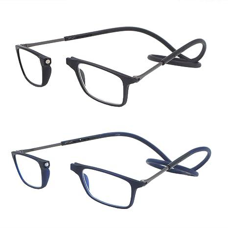 4e535cdf85 Pack de 2 gafas de lectura plegables por delante y ampliables para mujeres  y hombres que
