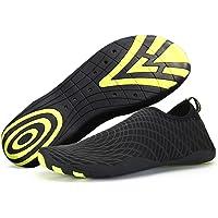 katliu Unisex Barefoot Aqua Water Shoes Slip-On Surf Shoes with Drainage Holes