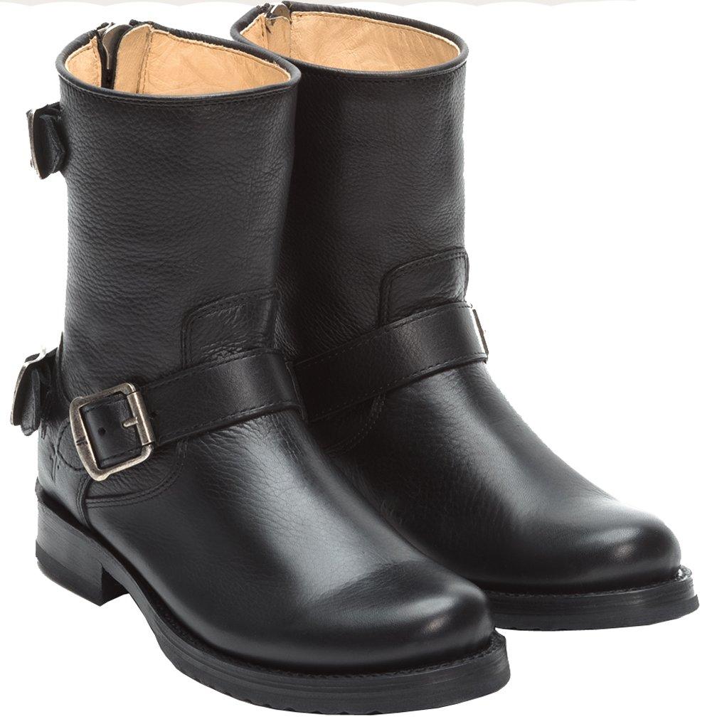 Frye Veronica Back Zip Short Low Heel Mid Calf Boot - Black 6.5 B(M) US