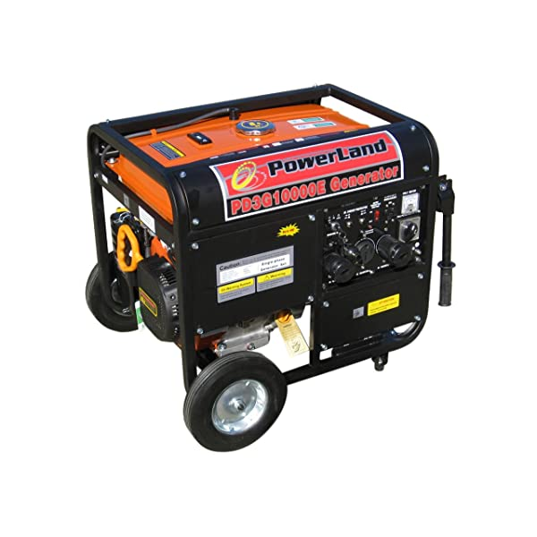 Powerland PD3G10000E 10,000 Watt Tri-Fuel 16 HP Gas/Propane/Natural Gas Powered Portable Generator
