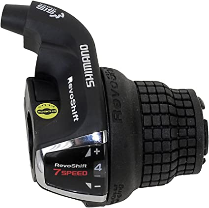 SHIMANO TOURNEY RS45 3 X 8-SPEED BLACK BICYCLE GRIP TWIST SHIFT SHIFTER SET
