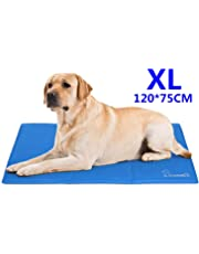 Pecute Dog Cooling Mat Extra Large 120x75cm, Durable Pet Cool Mat Non-Toxic Gel Self Cooling Pad, Great for Dogs Cats in Hot Summer