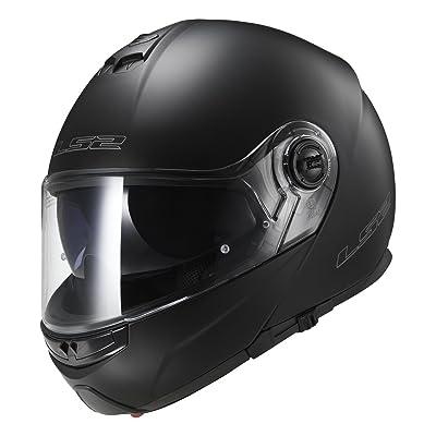LS2 Helmets Modular Strobe Helmet (Matte Black - X-Small): Automotive