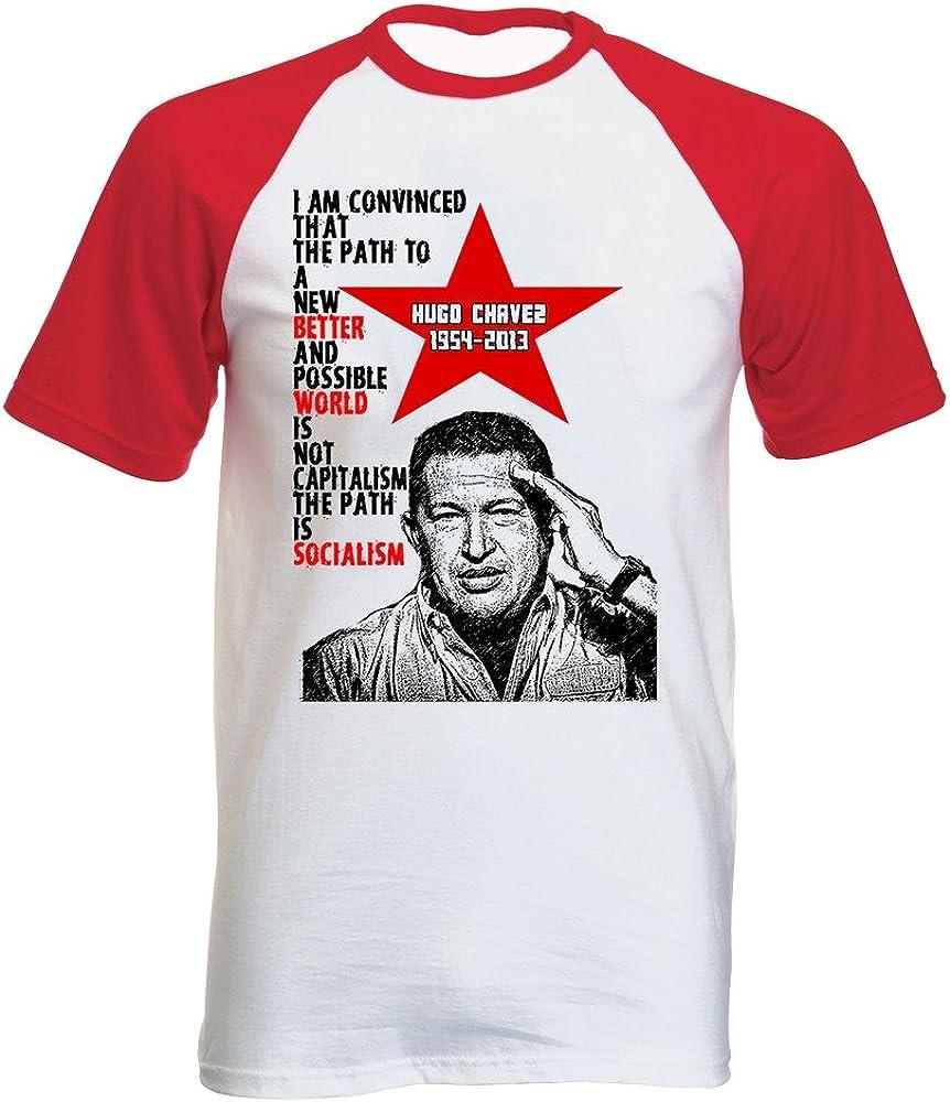 teesquare1st Chavez Hugo 2 Tshirt con Manga Corta roja T-Shirt Size Small: Amazon.es: Ropa y accesorios