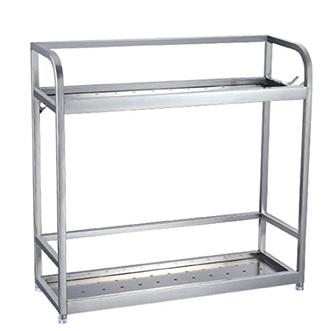 Amazon.com: Estantería de cocina de 2 niveles de acero ...