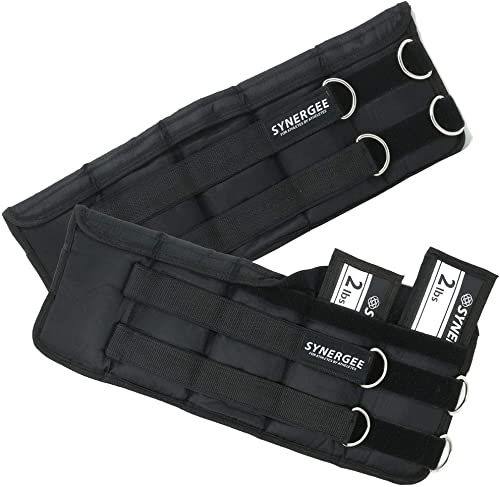 Synergee Comfort Fit Adjustable Ankle Wrist Weights Set of 2 . One Size Fits All