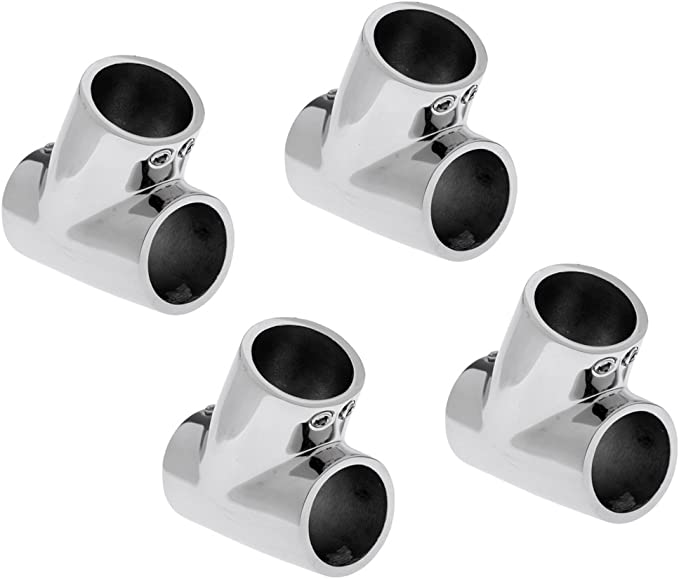 """6 Pack Boat Hand Rail Fitting End Stanchion 60° for 7//8/"""" Tubing Stainless Steel"""